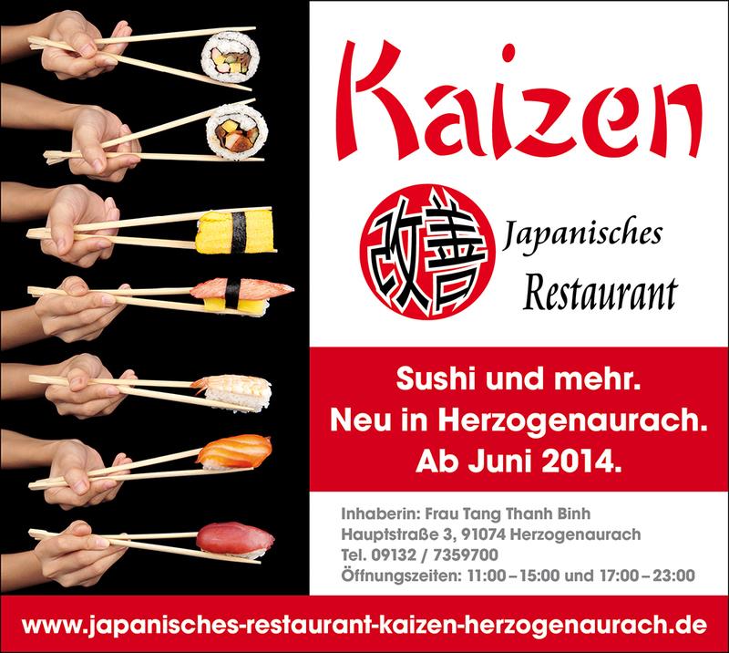 Willkommen im Japanischen Restaurant Kaizen